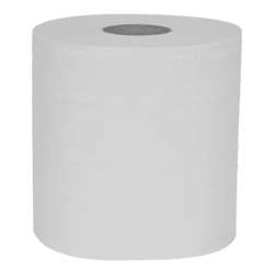 White Recycled Centrefeed Roll - 1 Ply