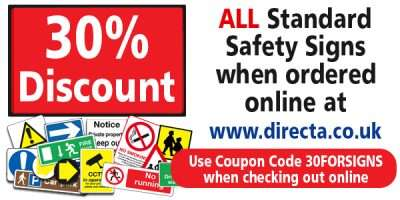 30% off standard safety signs during October