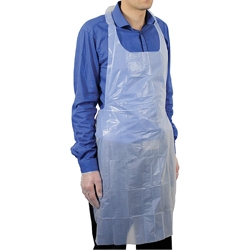 White Polythene Aprons - Pack of 100