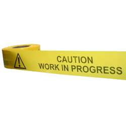 Caution Work In Progress Barrier Tape