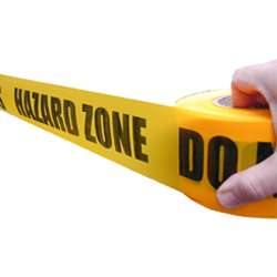 Hazard Zone Do Not Cross Barrier Tape