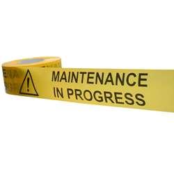 Maintenance In Progress Barrier Tape
