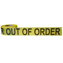 Out of Order Barrier Tape