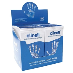 Antibacterial Hand Wipes - Box of 100