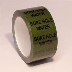Pipe ID Tape – Bore Hole Water - 50mm x 33M