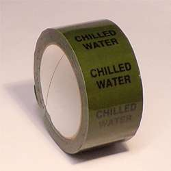 Pipe ID Tape – Chilled Water - 50mm x 33M
