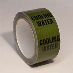 Pipe ID Tape – Cooling Water - 50mm x 33M