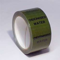 Pipe ID Tape – Deionised Water - 50mm x 33M