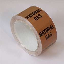 Pipe ID Tape – Natural Gas - 50mm x 33M