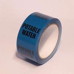 Pipe ID Tape – Potable Water - 50mm x 33M