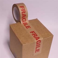 Fragile Paper Packaging Tape - 50mm x 50M