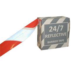 24/7™ Reflective Barrier Tape - 75mm x 250M