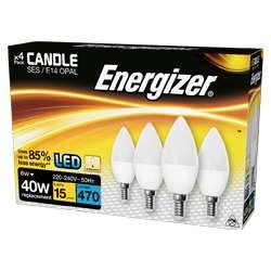 Energizer LED Candle Opal B22 - Warm White