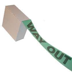 Way Out Barrier Tape - Black on Green
