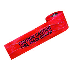 Detectable Warning Tape - Fire Main Below - 150mm x 100M