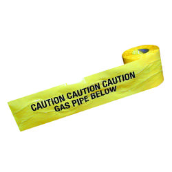 Detectable Warning Tape - Gas Pipe Below - 150mm x 100M