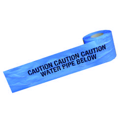 Detectable Warning Tape - Water Pipe Below - 150mm x 100M