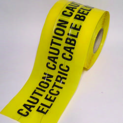 Detectable Warning Tape - Electric Cable Below - 150mm x 100M