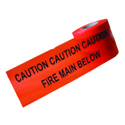 Underground Warning Tape - Fire Main - 150mm x 365M