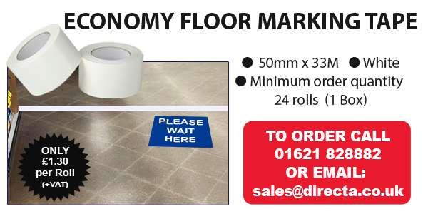 White Floor Marking Tape