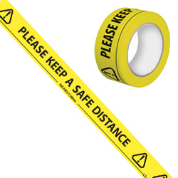 Please Keep A Safe Distance Tape - 50mmx 66M