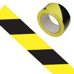 Black and Yellow Chevron Hazard Tape