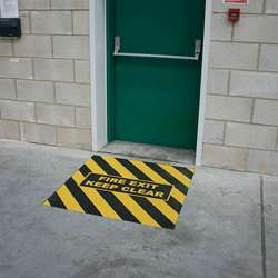 1M x 1M Printed Fire Exit Marker