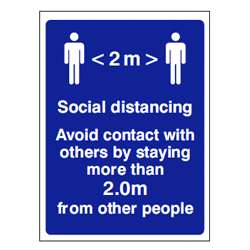 2M Social Distancing Sign