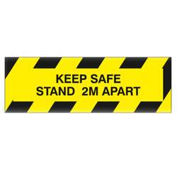 Keep Safe Stand 2M Apart Rigid Plastic Sign
