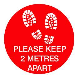 Please Keep 2 Meters Apart Floor Graphic