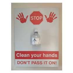 Clean your hands SIGN ONLY Sign