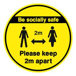 Be Socially Safe Floor Graphic