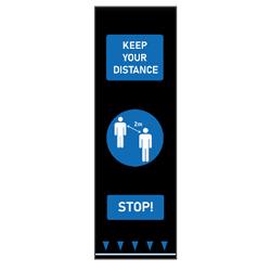 Blue Keep Your Distance Floor Mat