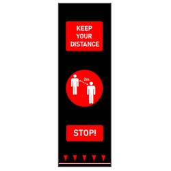 Red Keep Distance Floor Mat