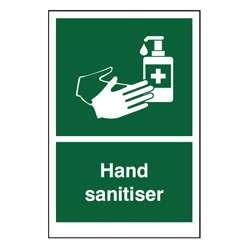 Green Hand Sanitiser Sign