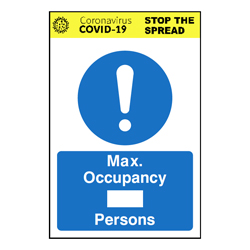 Max Occupancy *BLANK* Persons Sign