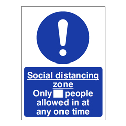 Social Distancing Shop Sign