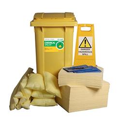 240L Chemical Spill Response Kit and 2 Wheel PE Bin