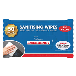Sanitising Wipes pack of 50