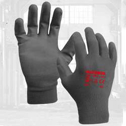 Grey PU Gloves