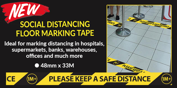 Please keep a safe distance floor marking tape