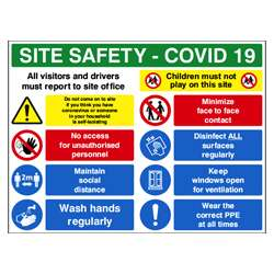 COVID19 Site Safety Sign