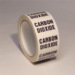 Carbon Dioxide Pipe ID Tape - 50mm x 33M