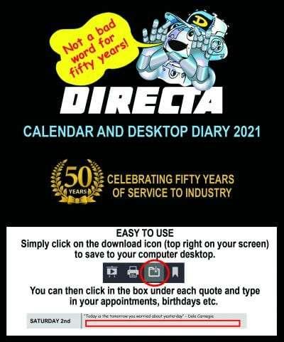 Directa Calendar Cover