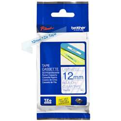 Brother TZ Tape – Blue on Clear - 12mm x 8M
