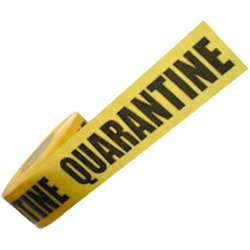 Quarantine Black and Yellow Barrier Tape