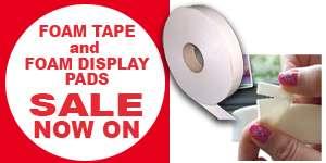Foam Tape and Foam Pad Sale Now On
