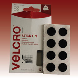 VELCRO® Brand Stick on Range - Coins - 16 sets per pack