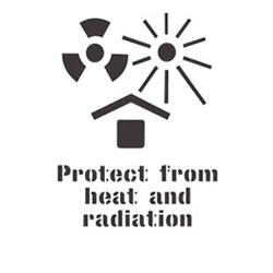 Stencil - Protect from heat and radiation