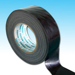 Low Residue Quality Polycloth Gaffer Ducting Tape - Black - AT175